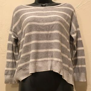 American Eagle Womens Small Striped Sweater Gray